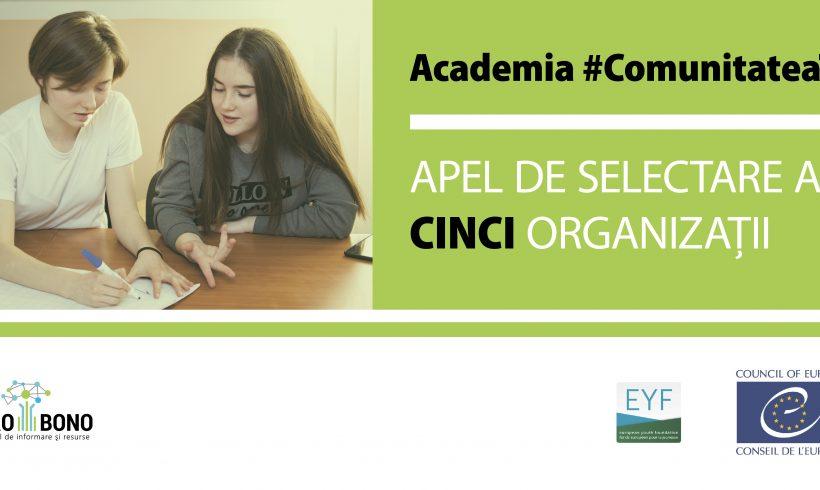 """Fii parte a proiectului """"Academia #ComunitateaTa"""" și promovează democrația și solidaritatea la nivel local"""